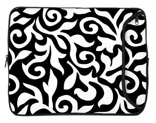 Intriguer Sleeves 15-Inch Fashion Laptop Sleeve, Baneful/White (15DS-BWF)