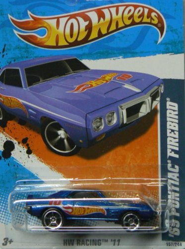 2011 Hot Wheels '69 Pontiac Firebird Blue #157/244 - 1