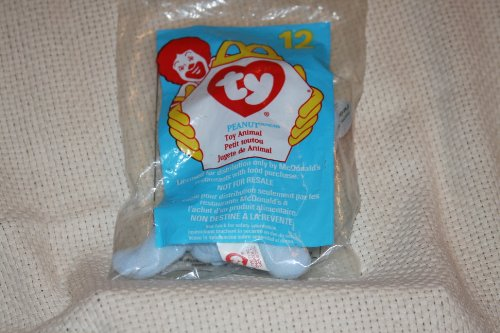TY McDonald's Teenie Beanie - #12 PEANUT the Light Blue Elephant (1998)