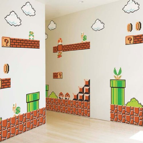 Kids Room Decor Blik Super Mario Brothers Wall Stickers