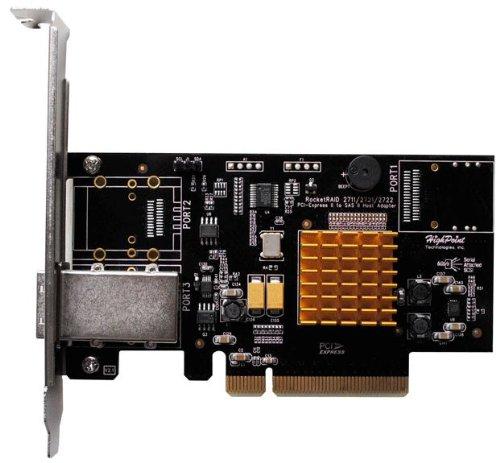 HighPoint-RocketRAID-2711-4-Port-PCI-Express-2-0-x8-SAS-SATA-6Gb-s-RAID-Controll