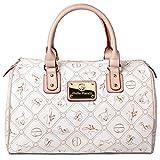 #517 Giulia Pieralli Damen Glamour Handtasche Damentasche Tasche Henkeltasche Kunstleder Weiss