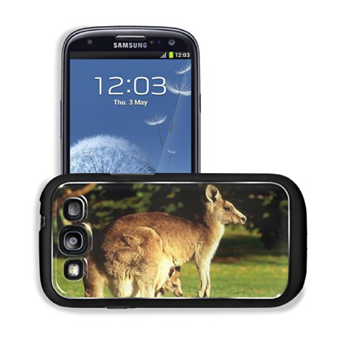 Animal Wildlife Kangaroo Mother Baby Australia Outback Samsung I9300 Galaxy S3 Snap Cover Premium Aluminium Design Back Plate Case Customized Made To Order Support Ready 5 3/8 Inch (136Mm) X 2 7/8 Inch (73Mm) X 7/16 Inch (11Mm) Luxlady Galaxy_S3 Professio front-1057314