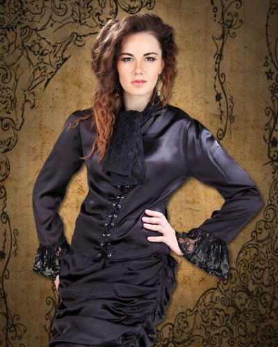 ThePirateDressing Steampunk Victorian The Wickfield Blouse (Large)