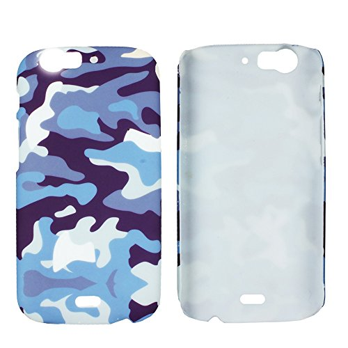 Heartly Army Style Retro Color Armor Hybrid Hard Bumper Back Case Cover For Micromax Canvas Turbo A250 Dual Sim - Navy Blue