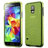 Cruzerlite Bugdroid Circuit TPU Case for the Samsung Galaxy S5 - Retail Packaging - Green