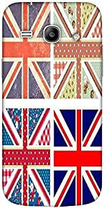 Snoogg 4 Cute British Flags In Shabby Chic Floral And Vintage Style Designer ...