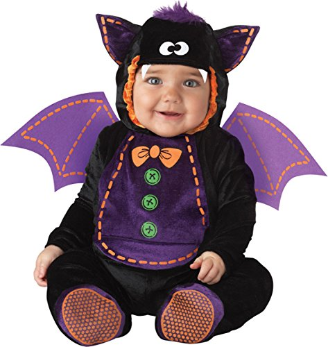 Lil Characters Toddler Tuft Detachable Wings Printed Jumpsuit Bat Costume