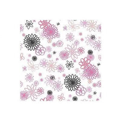 Whimisical Wallpaper Spiral Flowers Wallpaper In Black