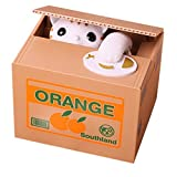 Cat Style Coin Money Box Piggy Bank Collecting Saving Money Bank Color White by Flyfish@ MoneySavingToy (Color: White Cat)