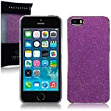 Terrapin Disco Glitter Back Case for iPhone 5S - Purple