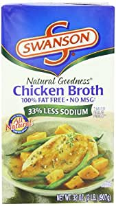 Swanson Natural Goodness Chicken Broth, 32 Ounce Cartons (Pack of 12)