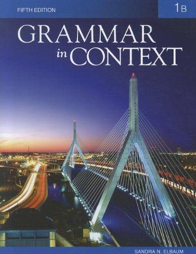Grammar in Context 1B, 5th Edition