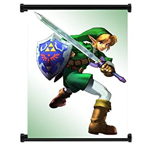 """Legend of Zelda: Ocarina of Time Game Fabric Wall Poster (32""""x42"""") Inches"""
