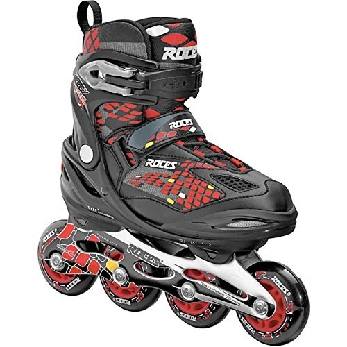 Roces Moody 4.0 Boys Inline Skates Rollerblades, Black/Red. 400777-00001-13JR by Roces