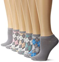 Anne Klein Women's 6 Pack Argyle Liners