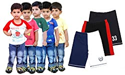 Goodway Pack of 8 -Boys Did You Know 5 Pack T-Shirts & 3 Pack Fashion Shorts Combo Pack