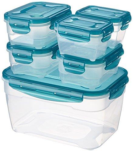 AmazonBasics - Set di contenitori alimentari ermetici, 6 pezzi