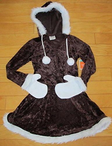 NWT GIRLS 6 7 8 Brown ESKIMO Cutie HALLOWEEN Costume DRESS UP SoooCUTE!!! (80s Dress Up Ideas For Men)