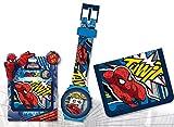 Set portefeuille + montre numérique Spiderman Marvel