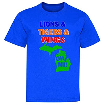 Lions Tigers Wings Oh MI Youth T-Shirt