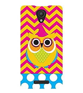 ANIMATED OWL PATTERN 3D Hard Polycarbonate Designer Back Case Cover for Xiaomi Redmi Note 2 :: Xiaomi Redmi Note 2 (2nd Gen) :: Redmi Note 2 Pro