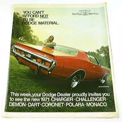1971 71 Dodge Brochure Challenger Polara Charger Demon