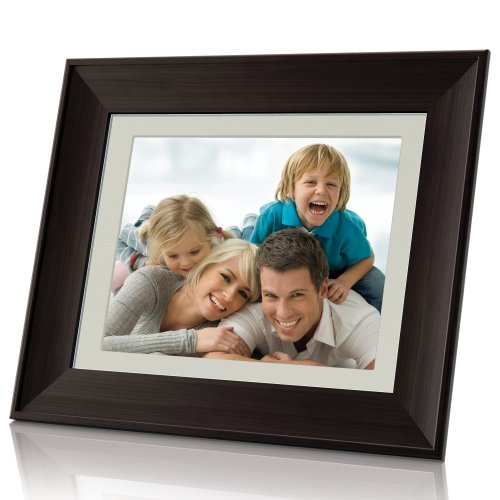 Coby DP1052 10.4-Inch Digital Photo Frame with MP3 Player, Wooden Frame