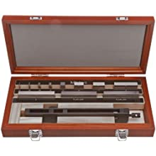 "Mitutoyo Carbide Rectangular Bore Gage Calibration Kit, ASME Grade 0, 0.04 - 3.0"" Length (9 Blocks + Accessories)"