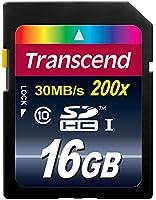 Transcend 16 Go Carte mémoire SDHC Classe 10 TS16GSDHC10E [Emballage « Déballer sans s'énerver par Amazon »]