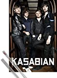 Poster + Hanger: Kasabian Poster (36x24 inches) Velociraptor! and 1 set of 1art1® Poster Hangers