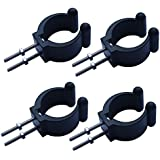 4 pcs Kayak paddle mount nylon clip push pole /rod clips holder with screws and nuts VERTICAL MOUNTED. NO SIDE MOUNTED.