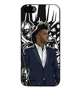 Fuson Premium 2D Back Case Cover DJ With Orange Background Degined For Apple iPhone 4::Apple iPhone 4S