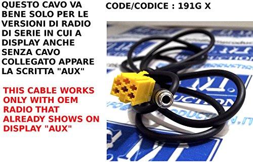 gm-production-191g-xp-cavo-aux-mp3-autoradio-di-serie-blaupunkt-su-alfa-fiat-lancia-smart-for-two-fo