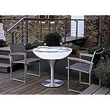 Esstisch Lounge 75 Outdoor Esszimmertisch Speisetisch by Moree, Glastischplatte:mit Tischplatte