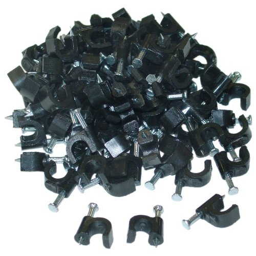 C&E Cne41336 Rg6 Cable Clip, 100 Pieces Per Bag, Black