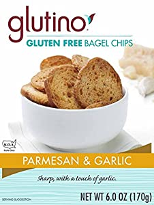 Glutino Parmesan and Garlic Bagel Chips Gluten Free, 6-Ounce (Pack of 6)