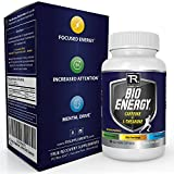 Nootropic Energy Supplement For Complex Focus, Optimal Mental Speed, and Enhanced Brain Function - 100% Natural Supplement - Caffeine(100mg) + L-Theanine(200mg) 60 Vegetarian Capsules