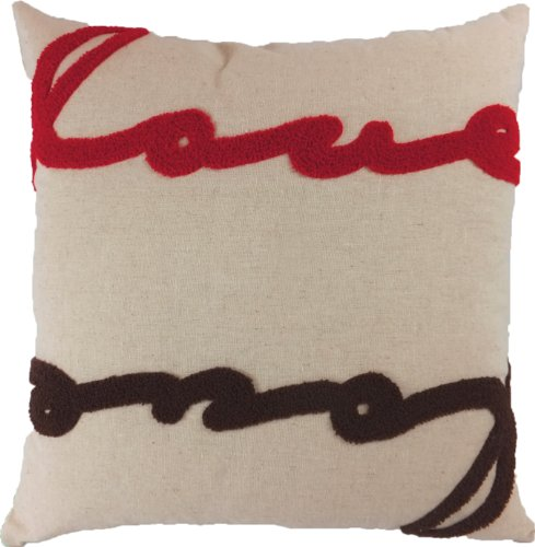 decorative special emboirdery love floral throw pillow cover