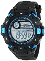 Armitron Men's 40/8297BLU Sport Metallic Blue Accented Black Resin Strap Chronograph Digital Sport Watch by Armitron