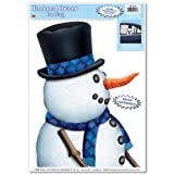 Snowman Backseat Driver Car Cling Party Accessory (1 count) (1/Sh)