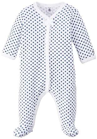 Petit Bateau - Grenouillère - À pois - Bébé fille - Multicolore (Ecume/Major) - FR: 1 mois (Taille fabricant: 1 Mois)