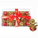 Chocholik Luxury Chocolates - 15pc Magical Collection Of Truffles With Ganesha Idol - Diwali Gifts