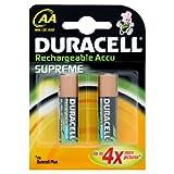 "Duracell Supreme NiMH Batterie (Mignon (AA), HR6, 1,2V) 2 St�ckvon ""Duracell"""