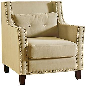 Ciara Beige Linen Armchair