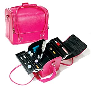 Amazon.com: Hot Pink Roll Top Makeup Case With Straps Style No. Mpm-015hp: Beauty