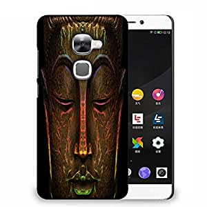 Snoogg Buddha Neon Designer Protective Back Case Cover For Samsung Galaxy J1