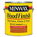 Minwax 710750000 Wood Finish - Penetrates, Stains & Seals, 250 VOC, gallon, Colonial Maple (Color: Colonial Maple, Tamaño: 250 VOC)