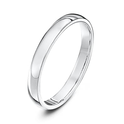 Theia Unisex Platinum Super Heavy Court Shape Polished Wedding Ring