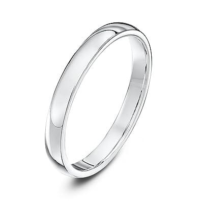 Theia Unisex Platinum Super Heavy Court Shape Polished Wedding Ring